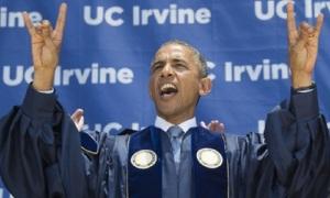 US President Barack Obama scream