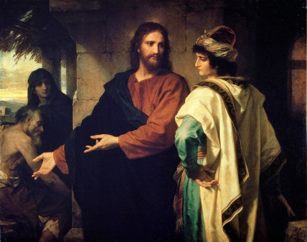Hofmann Christ and the rich young ruler 1889