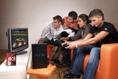 People playing PlayStation (1)
