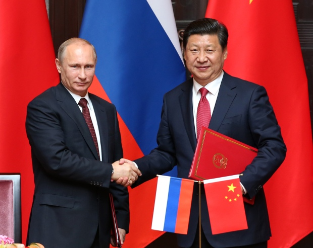 (FOCUS) CHINA-SHANGHAI-XI JINPING-RUSSIA-PUTIN-TALKS (CN)