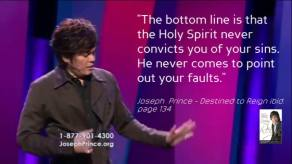 Joseph Prince conviction of sin